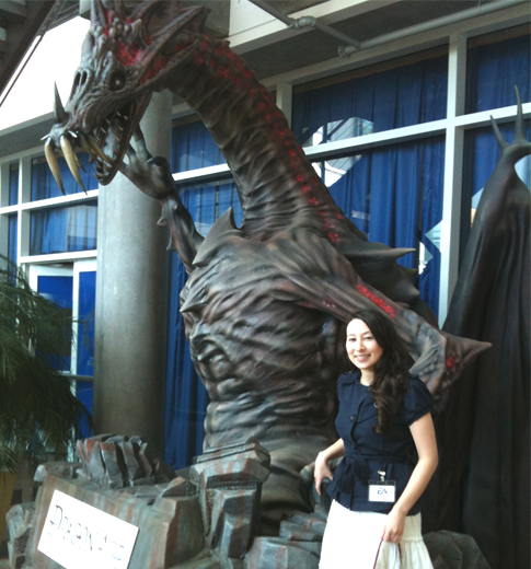 laura shigihara and dragon
